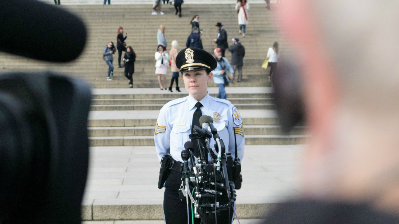 Sgt. Anna Rose addresses the media Tuesday morning: Ted Goodman/TheDCNF