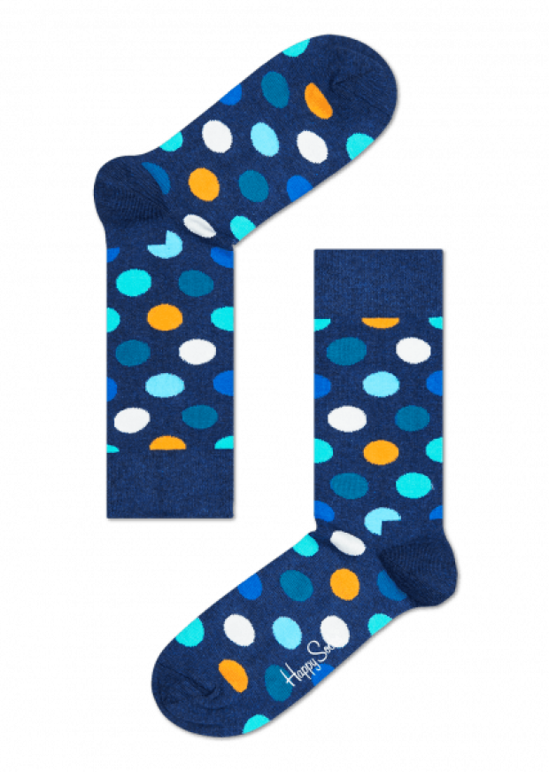 Normally $12, these dotted socks are 30 percent off (Photo via HappySocks)