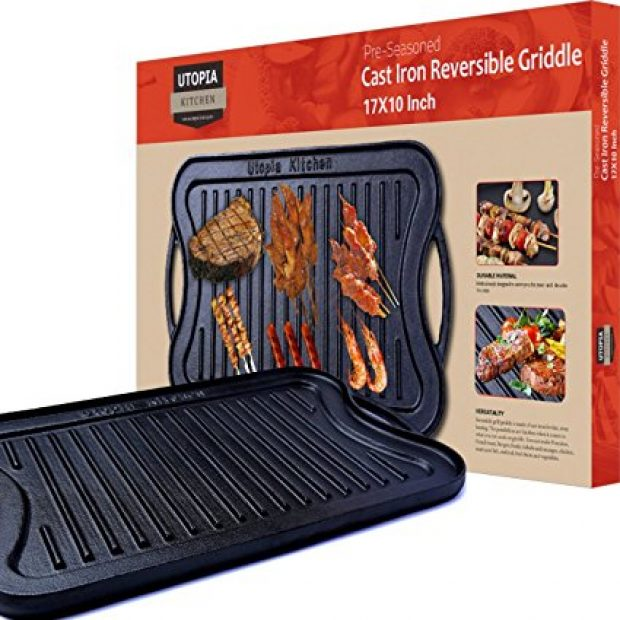 Normally $60, this griddle is 67 percent off (Photo via Amazon)