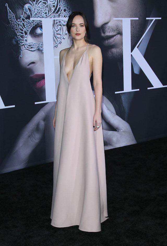 "Premiere Of Universal Pictures' ""Fifty Shades Darker"" <P> Pictured: Dakota Johnson <B>Ref: SPL1433389 020217 </B><BR /> Picture by: Jen Lowery / Splash News<BR /> </P><P>"