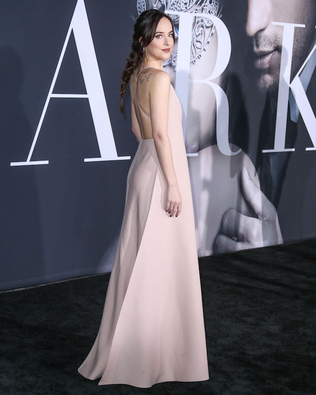 LOS ANGELES, CA, USA - FEBRUARY 02: Los Angeles Premiere Of Universal Pictures' 'Fifty Shades Darker' held at the theatre at Ace Hotel on February 2, 2017 in Los Angeles, California, United States. (Photo by Xavier Collin/Image Press Agency/Splash News) <P> Pictured: Dakota Johnson <B>Ref: SPL1434213 020217 </B><BR /> Picture by: Xavier Collin/IPA/Splash News<BR /> </P><P> <B>Splash News