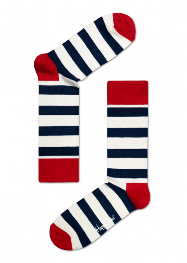 Normally $12, these striped socks are 30 percent off (Photo via HappySocks)
