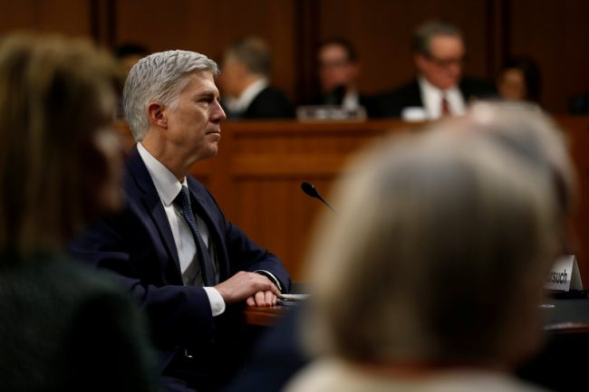 Supreme Court nominee judge Neil Gorsuch testifies during the third day of his Senate Judiciary Committee confirmation hearing on Capitol Hill in Washington, March 22, 2017. REUTERS/Jonathan Ernst