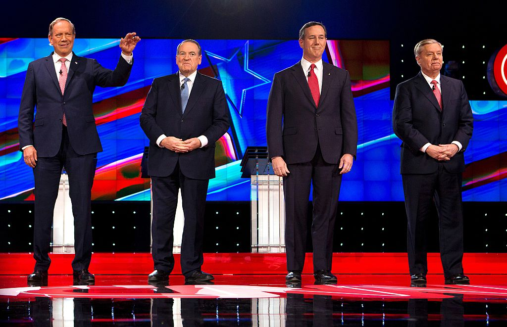 George Patak, Mike Huckabee, Rick Santorum and Lindsey Graham (Getty images)