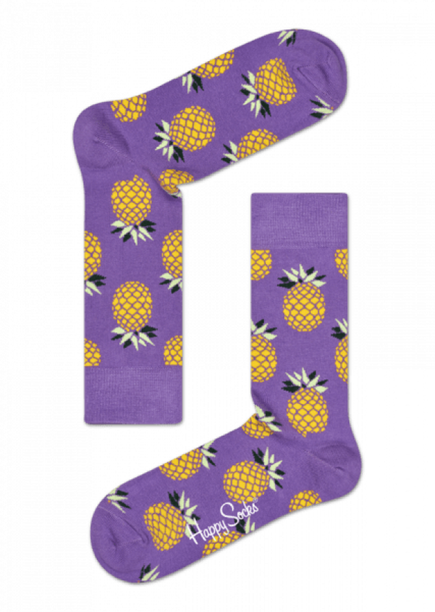 Normally $12, these pineapple socks are 30 percent off with our exclusive code (Photo via HappySocks)