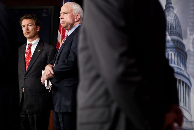 Now McCain accuses Rand Paul of 'working for Vladimir Putin'