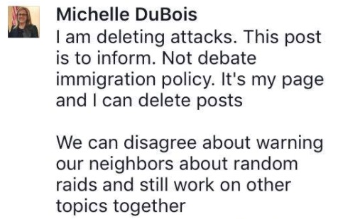 screenshot: Rep. Michelle DuBois Facebook