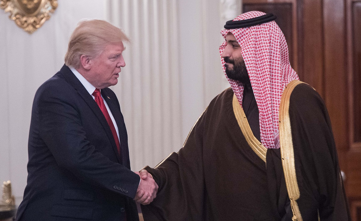Trump with Mohammed bin Salman Getty Images/Nicholas Kamm