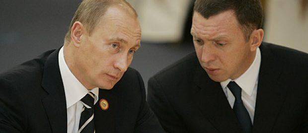 Vladimir Putin and Oleg Deripaska at APEC Summit, November 2006. (Photo: President of the Russian Federation/Wikimedia Commons/www.kremlin.ru)