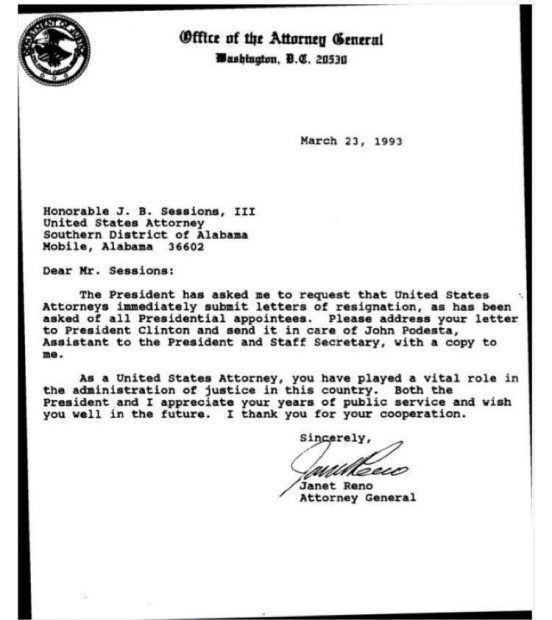 Image result for jeff sessions resignation letter
