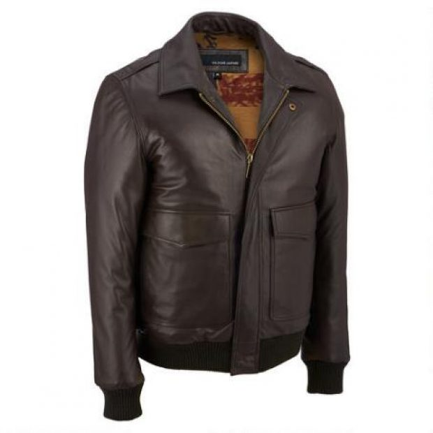 Normally $230, this leather bomber is 50 percent off (Photo via Wilsons Leather)