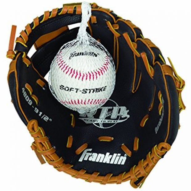 Normally $20, this glove-ball combo is 64 percent off today (Photo via Amazon)