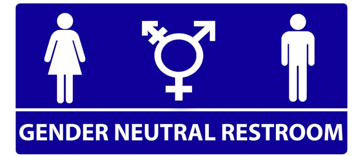 Gender Neutral Bathroom Sign Design Shutterstock