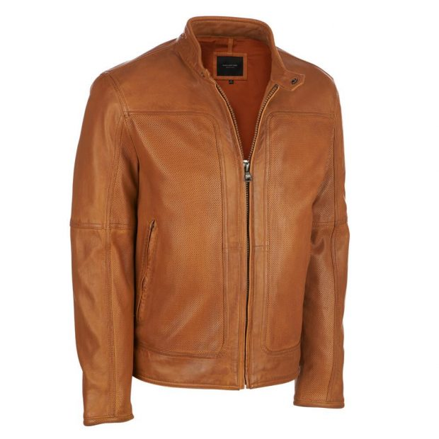 Normally $530, this leather jacket is 50 percent off. It also comes in black (Photo via Wilsons Leather)