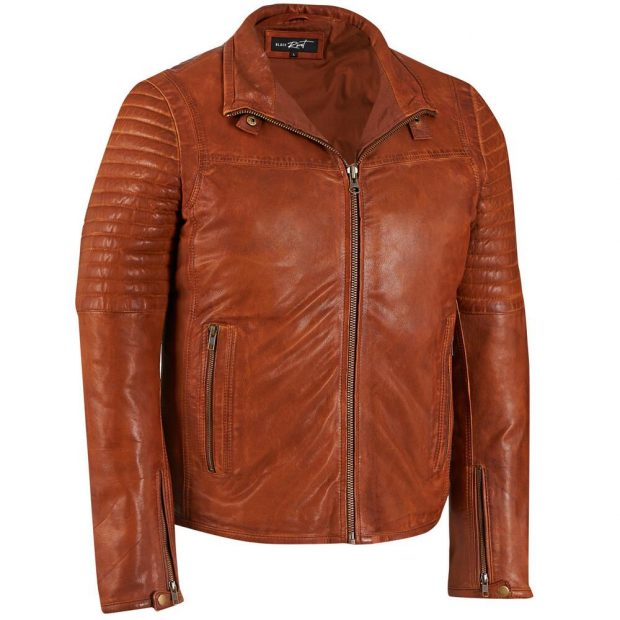 Normally $450, this leather moto jacket is 50 percent off (Photo via Wilsons Leather)