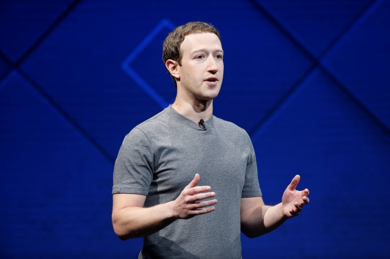 Facebook Founder and CEO Mark Zuckerberg speaks on stage during the annual Facebook F8 developers conference in San Jose, California, U.S., April 18, 2017. (photo credit: REUTERS/Stephen Lam)