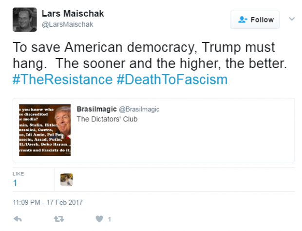 Professor who tweeted 'Trump must hang,' agrees to paid leave
