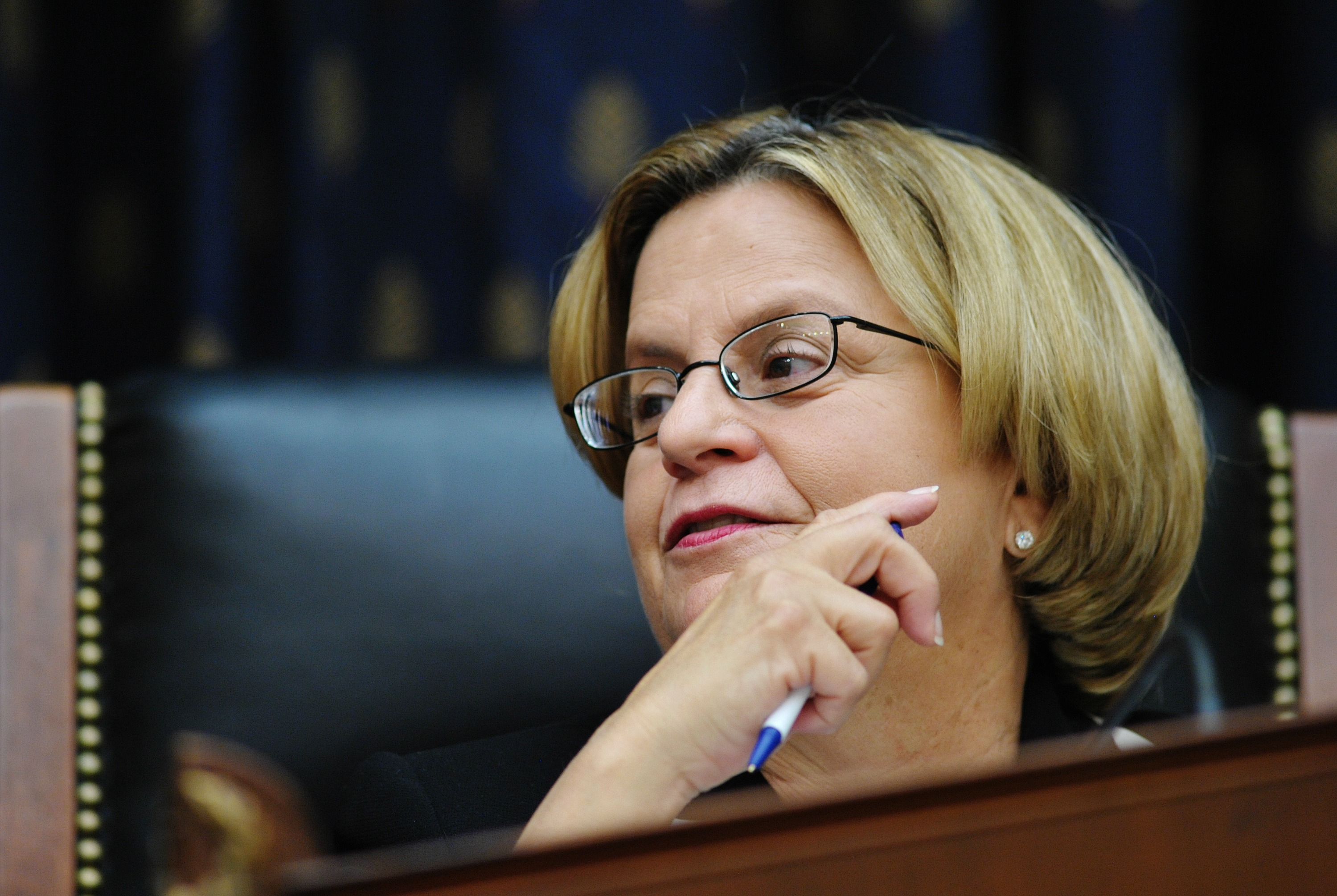 "House Foreign Affairs Committee Chairman Ileana Ros-Lehtinen, R- FL,speaks during a full committee markup of the ""Foreign Relations Authorization Act, FY2012."" in the Rayburn House Office Building on Capitol Hill in Washington, DC. MANDEL NGAN/AFP/Getty Images"