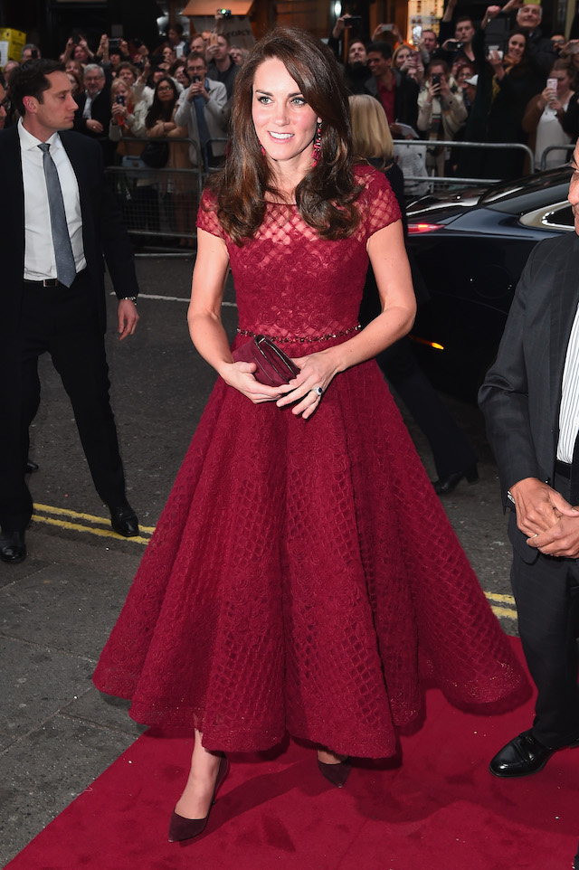 """LONDON, ENGLAND - APRIL 04: Catherine, Duchess of Cambridge attends the opening night of """"42nd Street"""" at Theatre Royal on April 4, 2017 in London, England. The opening night is a fundraising event for the East Anglia Children's Hospice (EACH) of which the Duchess of Cambridge is Patron. (Photo by Eamonn M. McCormack/Getty Images)"""
