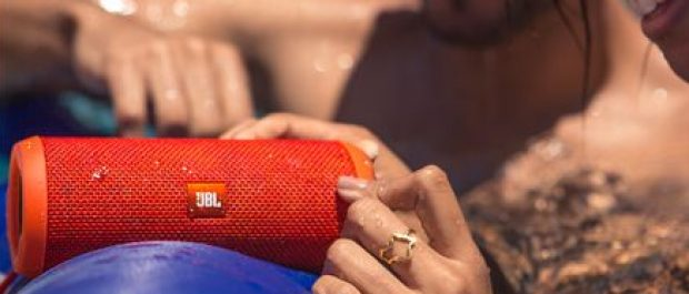 Red is one of many colors in which this speaker is available (Photo via JBL.com)
