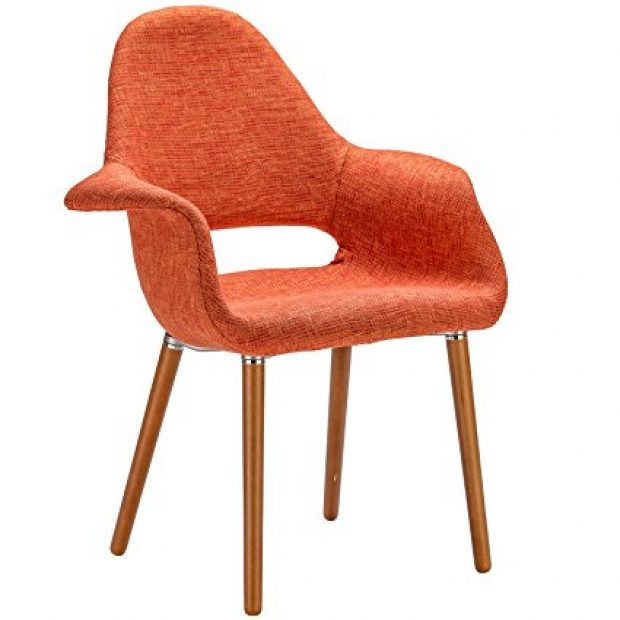 Normally $240, this armchair is 50 percent off. It is available in orange, black, light grey, red and taupe (Photo via Amazon)