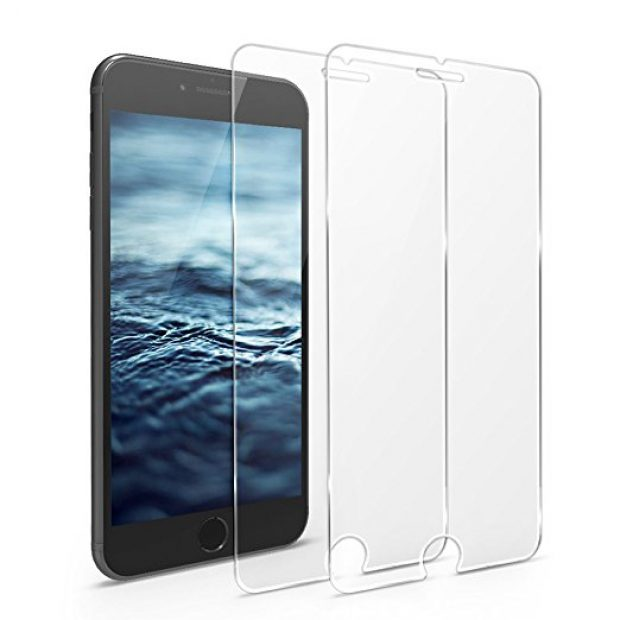 Normally $26, this 2-pack of iPhone screen protectors is 86 percent off with this code (Photo via Amazon)