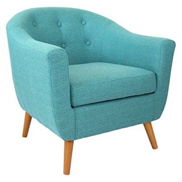 Normally $454, this chair is 41 percent off. It is available in teal, orange, grey and espresso (Photo via Amazon)