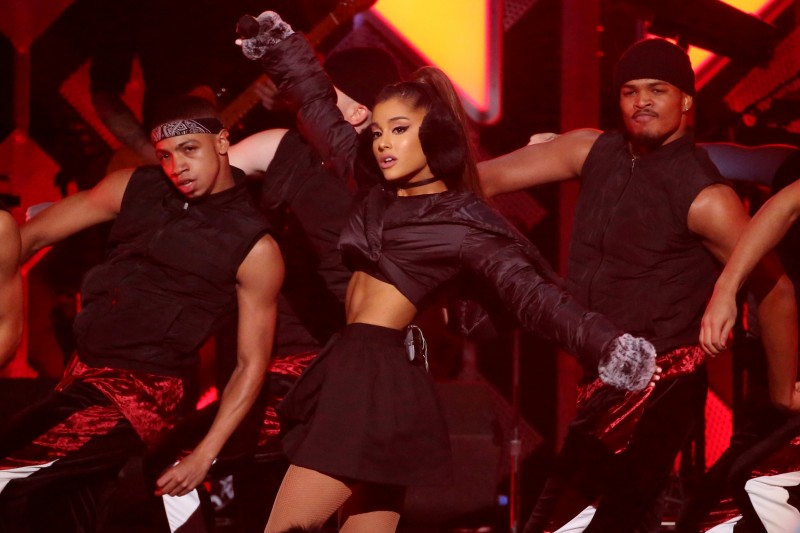 FILE PHOTO - Ariana Grande performs at Z100's Jingle Ball in Manhattan, New York, U.S., December 9, 2016. REUTERS/Andrew Kelly/Files