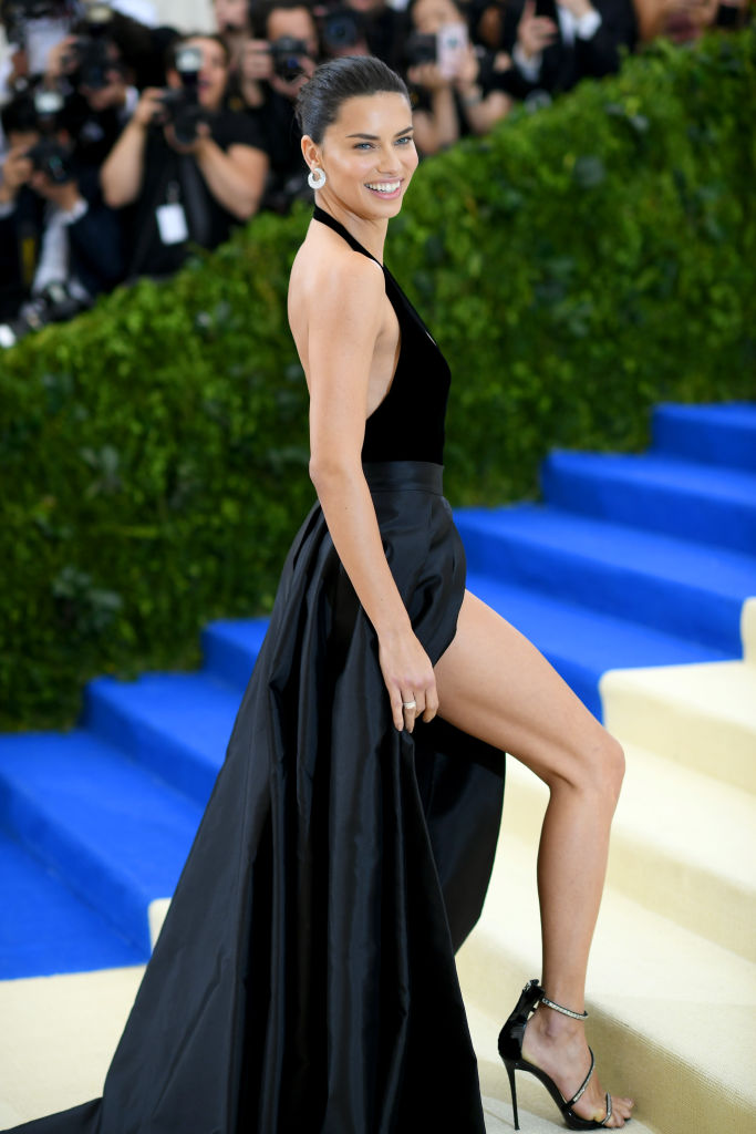"""Adriana Lima attends the """"Rei Kawakubo/Comme des Garcons: Art Of The In-Between"""" Costume Institute Gala at Metropolitan Museum of Art on May 1, 2017 in New York City. (Photo by Dimitrios Kambouris/Getty Images)"""