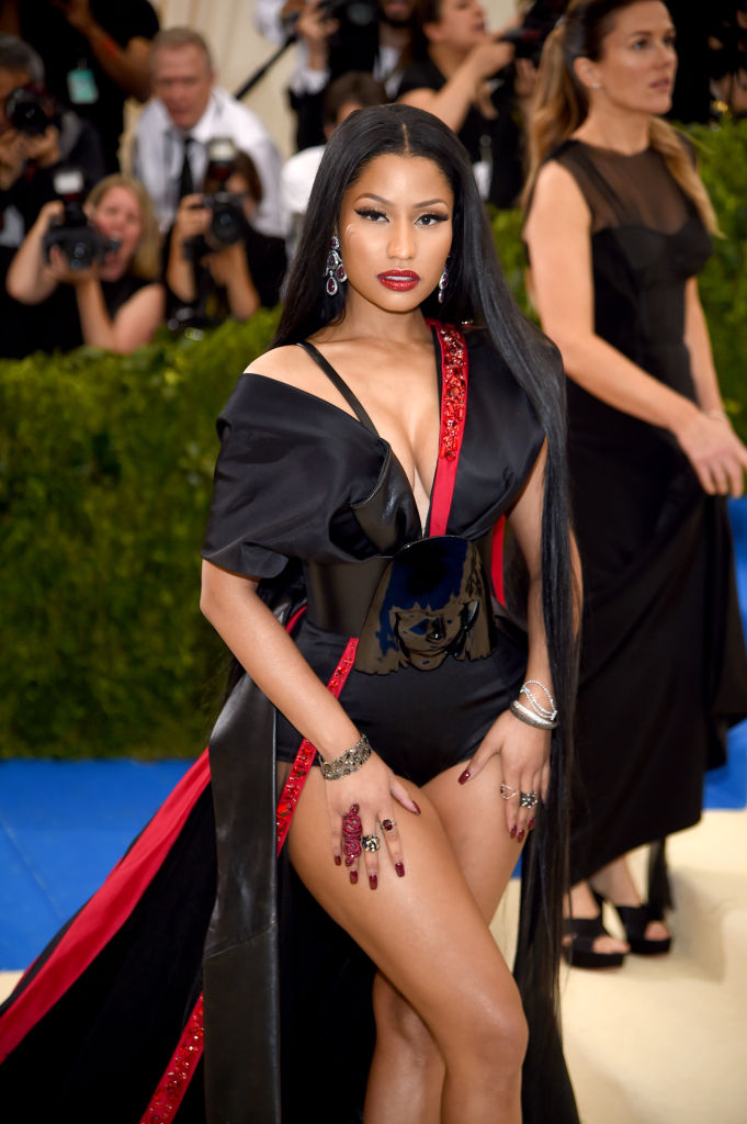 """Nicki Minaj attends the """"Rei Kawakubo/Comme des Garcons: Art Of The In-Between"""" Costume Institute Gala at Metropolitan Museum of Art on May 1, 2017 in New York City. (Photo by Dimitrios Kambouris/Getty Images)"""