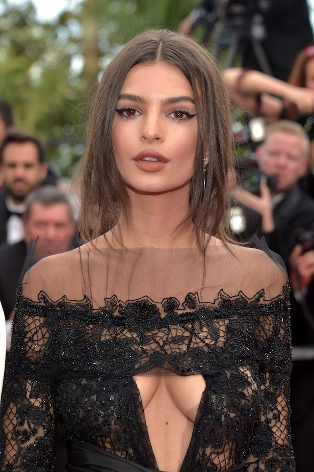 """CANNES, FRANCE - MAY 18: Model Emily Ratajkowski attends the """"Loveless (Nelyubov)"""" screening during the 70th annual Cannes Film Festival at Palais des Festivals on May 18, 2017 in Cannes, France. (Photo by Pascal Le Segretain/Getty Images)"""