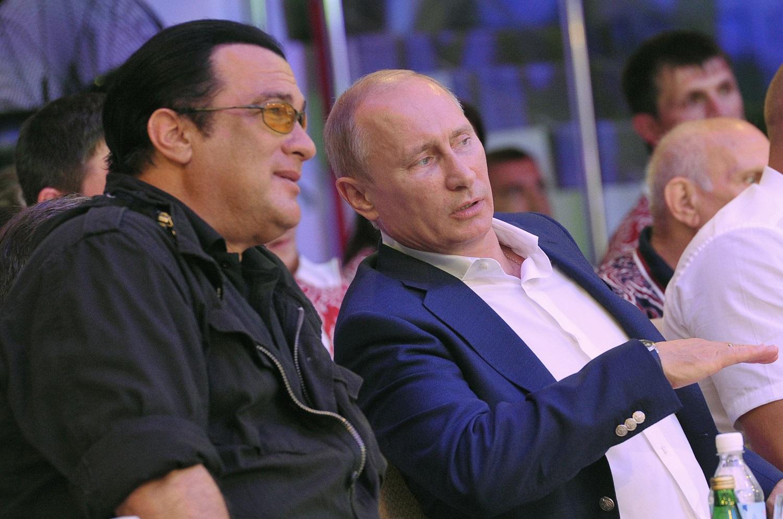 Seagal and Putin. AFP/Getty Images/Aleksey Nikolskyi
