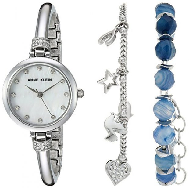 Normally $130, this watch and bracelet set is 62 percent off today (Photo via Amazon)