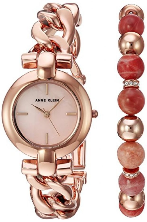 Normally $125, this watch and bracelet set is 66 percent off today (Photo via Amazon)
