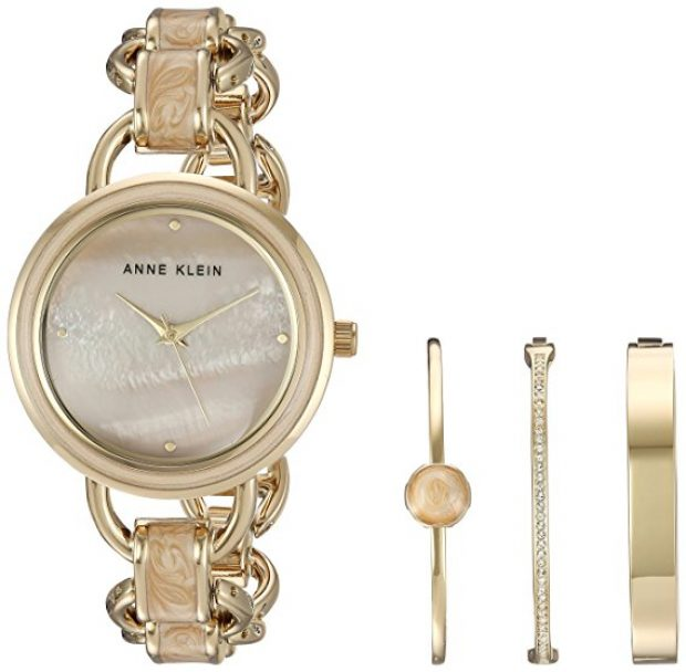 Normally $150, this watch and bracelet set is 67 percent off today (Photo via Amazon)
