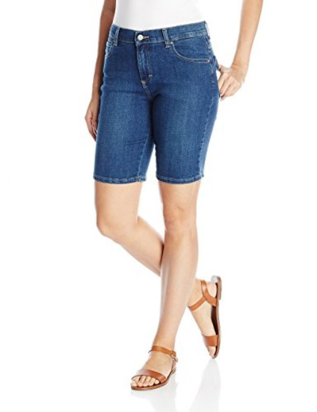 Normally $54, these Bermuda shorts are 59 percent off today. They are available in 2 different washes (Photo via Amazon)