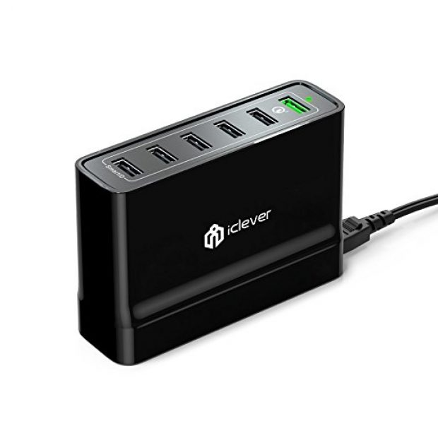 Normally $70, this 6-port wall charger is 73 percent off with this exclusive code (Photo via Amazon)