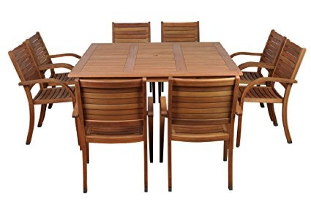 Normally $1500, this 9-piece dining set is 28 percent off today (Photo via Amazon)
