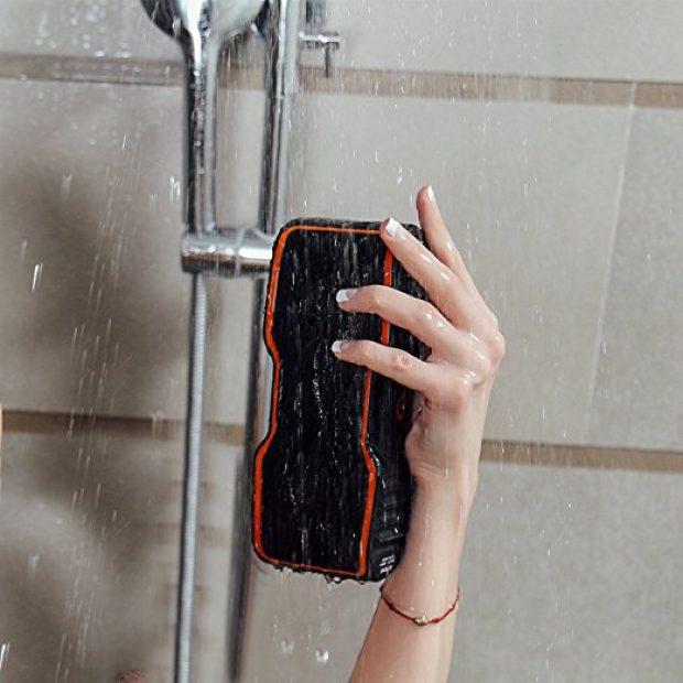 It works great as a shower speaker (Photo via Amazon)