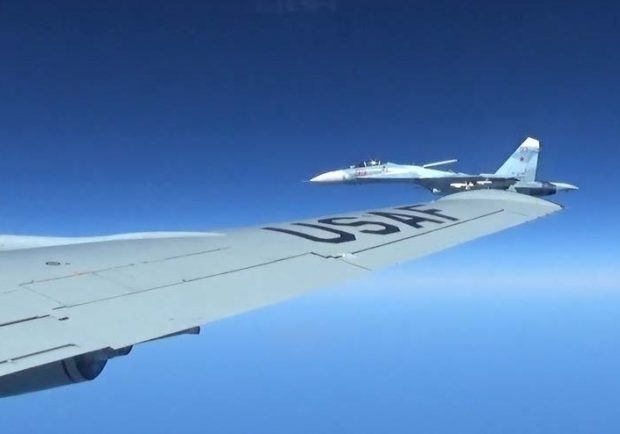 A U.S. RC-135U flying in international airspace over the Baltic. (Courtesy photo/Released)