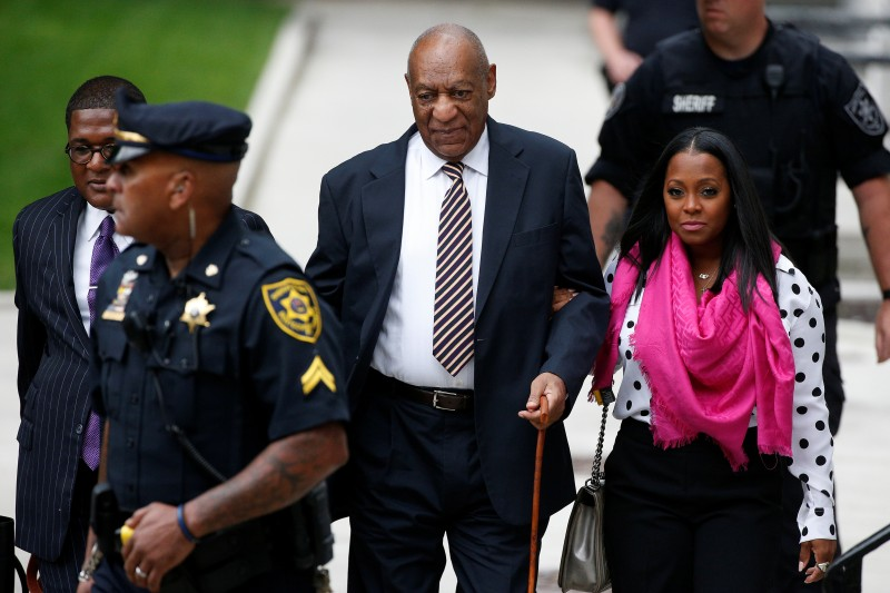 Actor and comedian Bill Cosby arrives for the first day of his sexual assault trial at the Montgomery County Courthouse in Norristown, Pennsylvania, June 5, 2017. REUTERS/Brendan McDermid