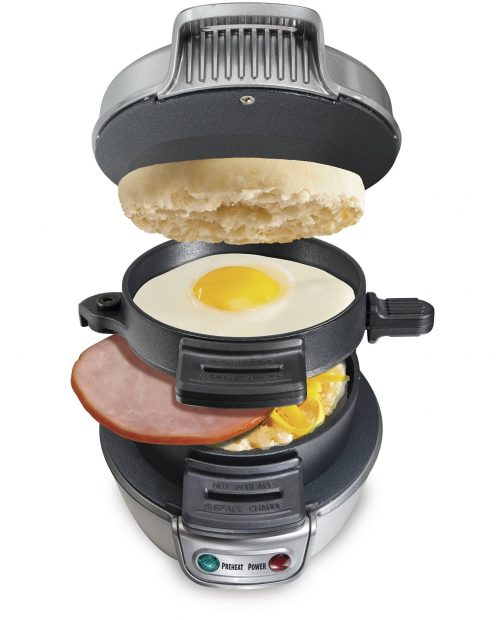 Isn't this mouth-watering? (Photo via Amazon)Normally $30, this breakfast sandwich maker is 37 percent off (Photo via Amazon)