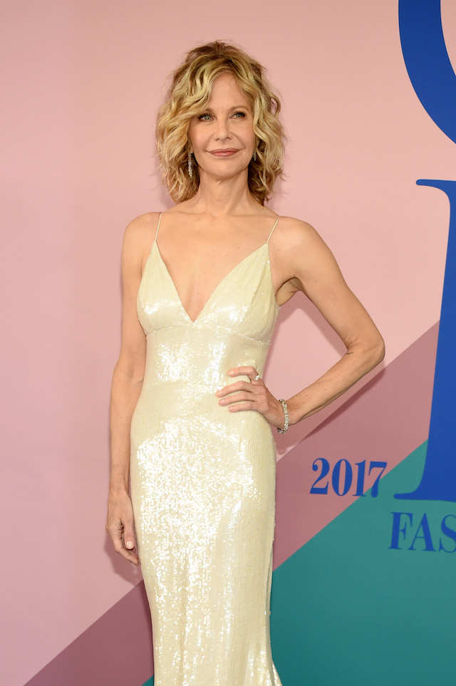 NEW YORK, NY - JUNE 05: Meg Ryan attends the 2017 CFDA Fashion Awards at Hammerstein Ballroom on June 5, 2017 in New York City. (Photo by Dimitrios Kambouris/Getty Images)