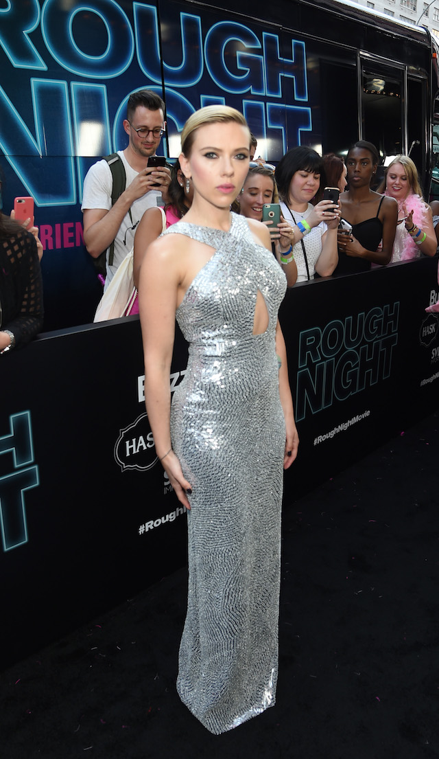 Actress Scarlett Johansson attends New York Premiere of Sony's ROUGH NIGHT presented by SVEDKA Vodka at AMC Lincoln Square Theater on June 12, 2017 in New York City. (Photo by Jamie McCarthy/Getty Images for SVEDKA Vodka)