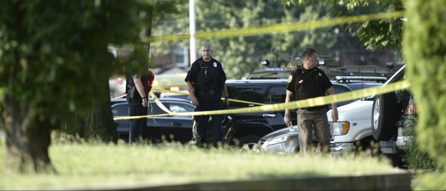 Police tape cordons off the scene of an early morning shooting in Alexandria, Virginia, June 14, 2017. Senior Republican Congressman Steve Scalise was among several victims shot and wounded at a baseball practice ahead of an annual gam(Getty Images)