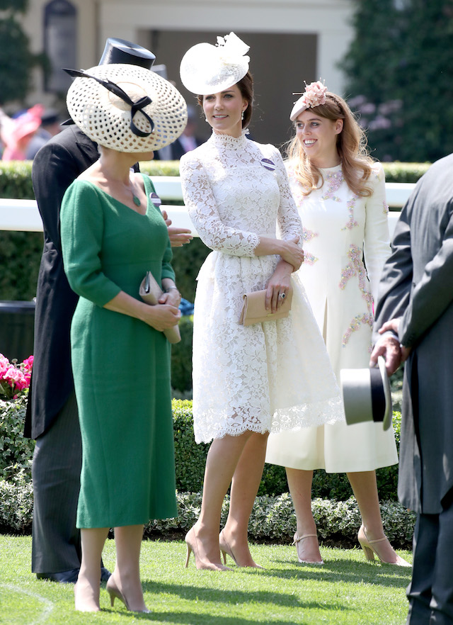 ASCOT, ENGLAND - JUNE 20: Catherine, Duchess of Cambridge and Princess Eugenie of York attend Royal Ascot 2017 at Ascot Racecourse on June 20, 2017 in Ascot, England. (Photo by Chris Jackson/Getty Images)