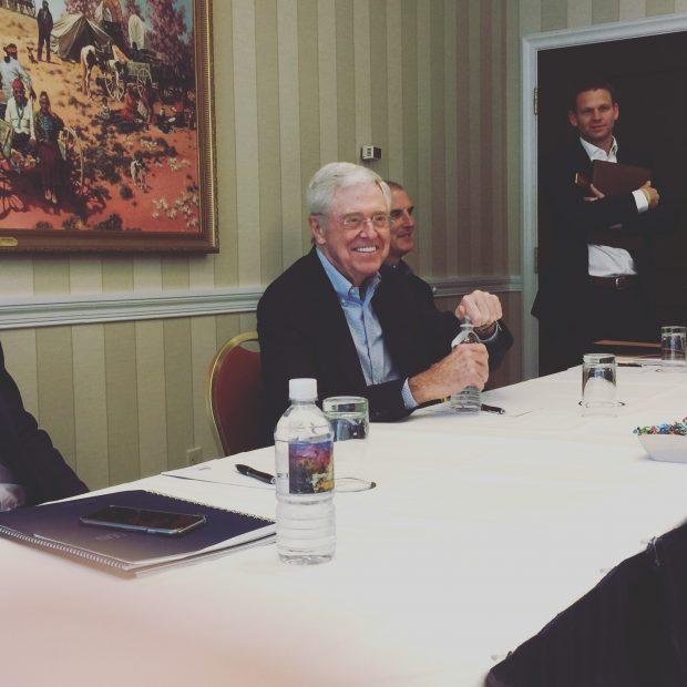 Charles Koch at the 2017 Koch Seminar Network conference in Colorado Springs, Co. (Robert Donachie/Daily Caller News Foundation)