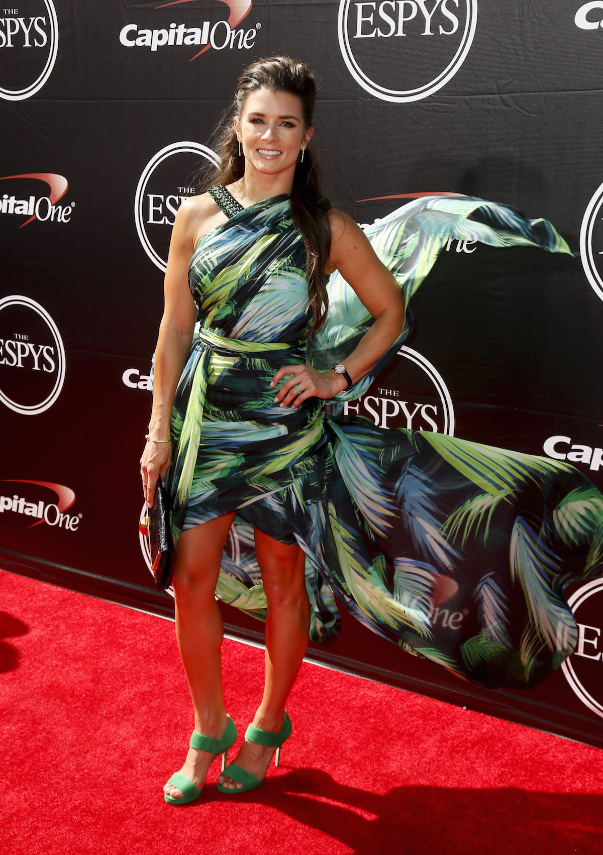 Danica Patrick stunned the red carpet at the 2015 ESPY Awards. (Photo: Reuters)