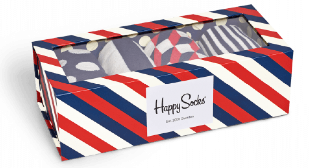 Normally $45, this gift box is 30 percent off with this exclusive code (Photo via HappySocks)
