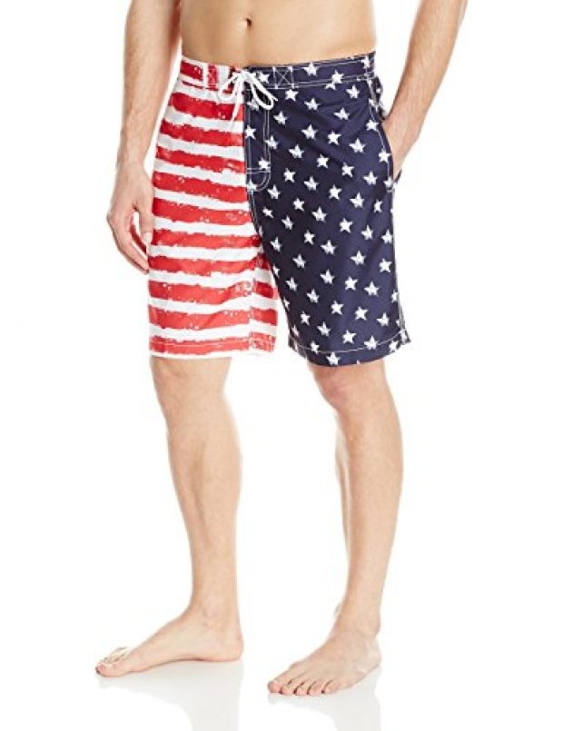 Normally $54, these American flag trunks are 56 percent off (Photo via Amazon)